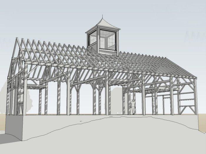 Timber Frame 3D CAD model :: Iden Barn Homes
